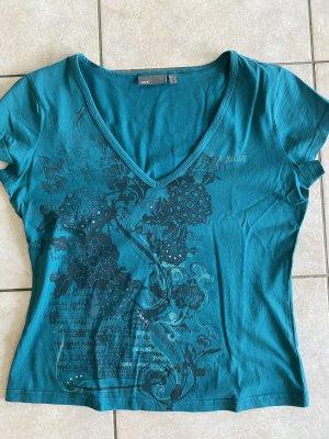 T-Shirt Mexx XL pertrolgrün mit V-Ausschnitt