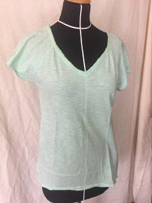 T-shirt mintfarben V-ausschnitt Oversize