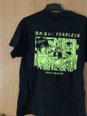T-Shirt mit Anime Print, Größe S