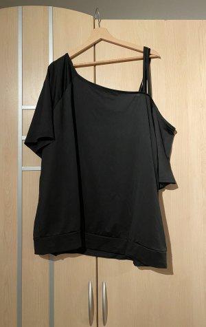 SheIn One Shoulder Shirt black