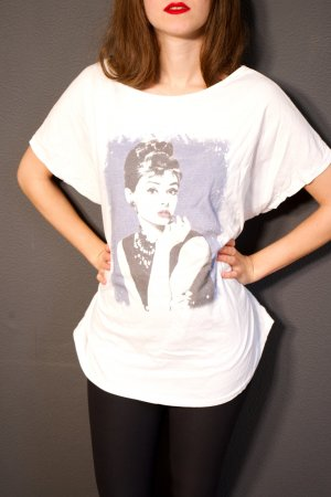T-Shirt mit Audrey Hepburn Print
