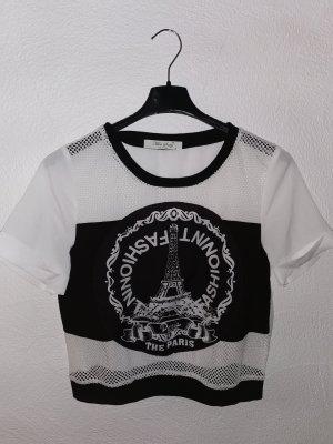 T-shirt mit Aufdruck (crop Schnitt)