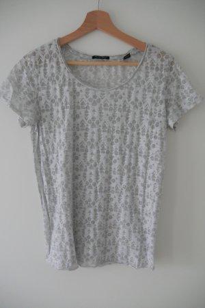 T-Shirt mit Ausbrennereffekt