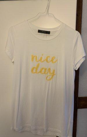 T-Shirt mit Bändchenstickerei, Hallhuber , Größe S