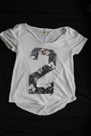T-Shirt mit Blumenmuster Aufdruck