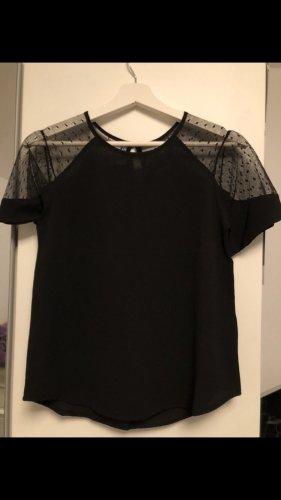 T-Shirt mit blusenartigem Stoff
