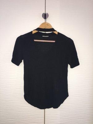 T-Shirt mit Chokerkragen