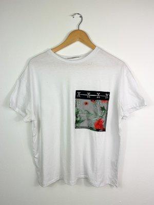 Zara Camisa holgada negro-blanco