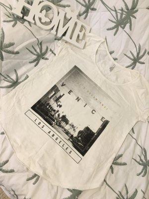 Ann Christine Print Shirt white