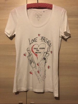 Marcel Ostertag T-Shirt white-pink