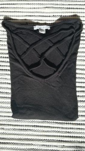 T-shirt mit gekreuztem Ausschnitt