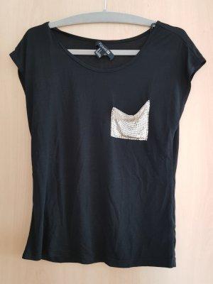 T-shirt mit Glitzertasche
