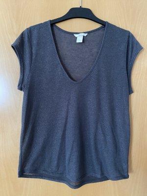 T-Shirt mit goldenen Glitzerfäden
