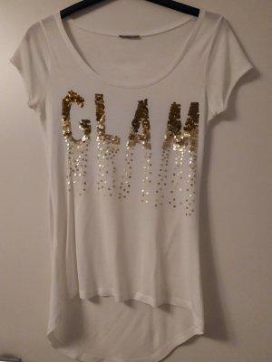 Orsay T-shirt blanc-doré