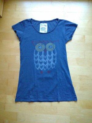 armedangels T-shirt leigrijs-blauw