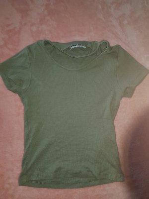 T-Shirt mit Halsband Bauchfrei