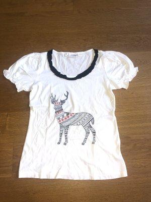 T Shirt mit Hirsch Motiv von Amy Größe 36