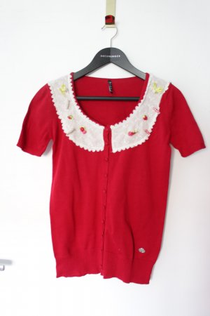 Knitted Jumper brick red cotton