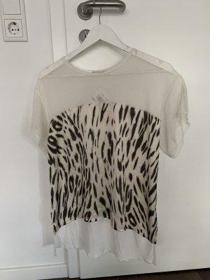 T-Shirt mit leo und mesh