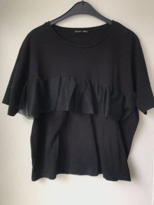 T-Shirt mit Mesh-Volaint