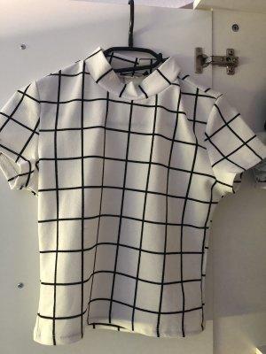 SheIn T-Shirt white-black