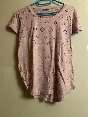 T-shirt mit Muster-Löchern