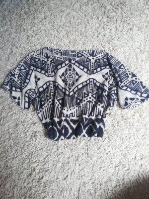 T - Shirt mit Muster und kurzen Ärmeln
