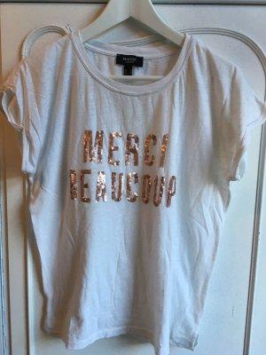 T-shirt mit Pailetten Aufdruck von Mango