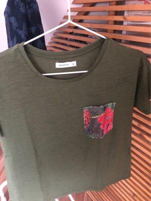T-Shirt mit Pailletten Print