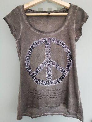 T-shirt mit Pailletten von Key Largo (S)