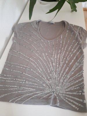 T-Shirt mit Paillettenstick
