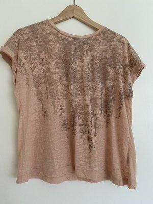 T-Shirt mit passendem Schal rosa Gr. 36