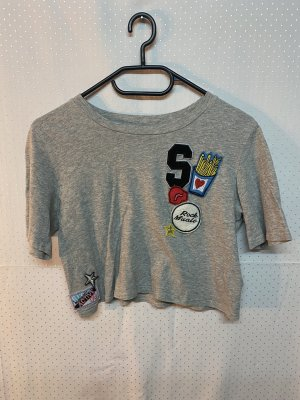 T-Shirt mit patches XS