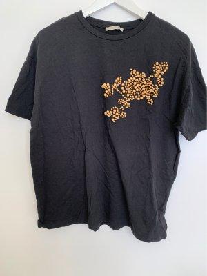 T-Shirt mit Perlendetail