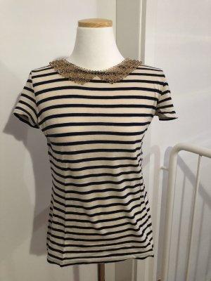 T-Shirt mit Perlenkragen von Hallhuber