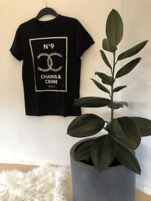 SMOG T-shirt nero-bianco
