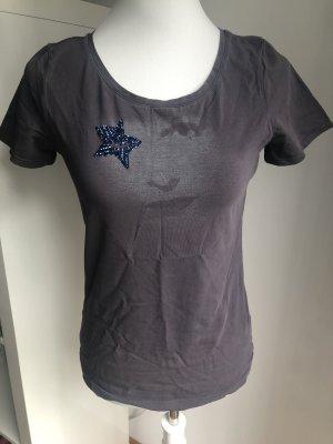 T Shirt mit Print und Stern Größe S