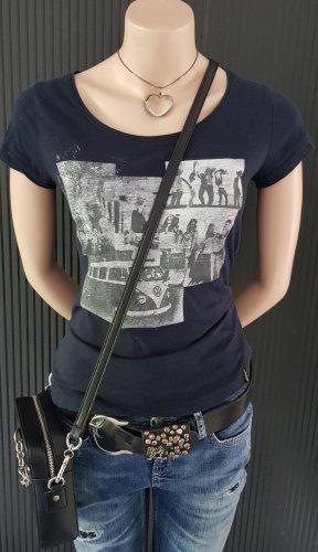 Tara T-shirt ciemnoniebieski