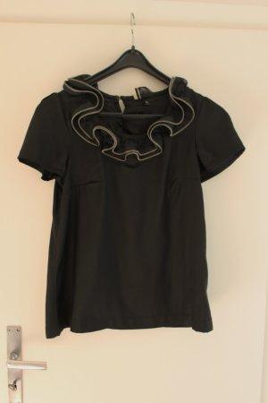 T-Shirt mit Reißveschlusskragen
