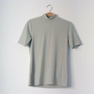 H&M Top à col roulé gris vert