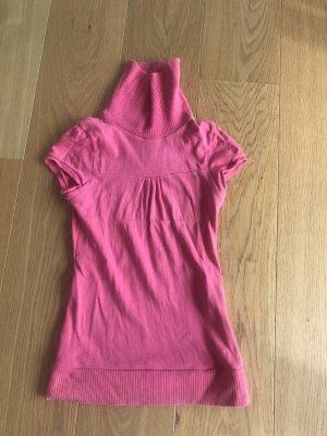 Zara Basic Camisa de cuello de tortuga rosa