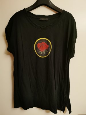 T-shirt mit Rosenmotiv