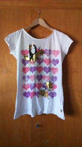 T-Shirt mit Rückenausschnitt und Kette von Plusminus