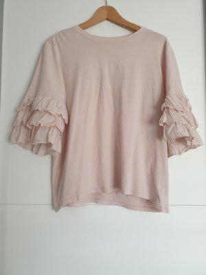 H&M T-shirt stary róż-różany