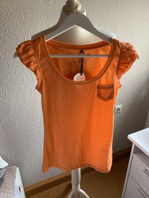 T-Shirt mit Rüschen-Ärmeln NEU