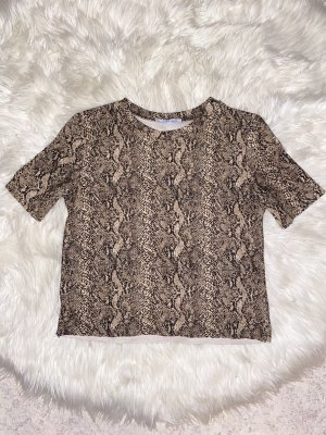 T-shirt mit Schlangenprint gr. XS