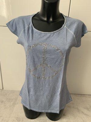Hallhuber Batik shirt azuur-korenblauw