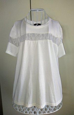 T-shirt mit schöne Spitzen Deko Größe 42-44