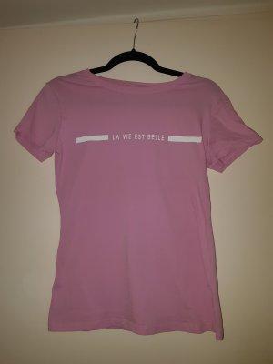 T-Shirt mit Schriftzug rosa