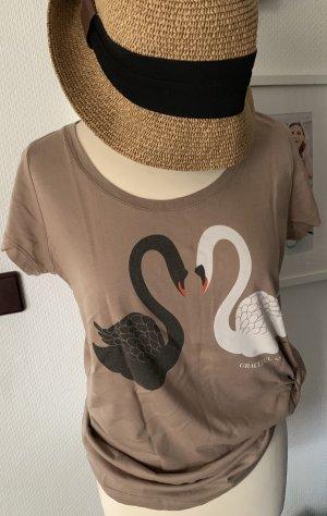 T-Shirt mit Schwanenpaar